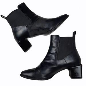 MaxMara Soldino Chelsea Leather Ankle Boots 37